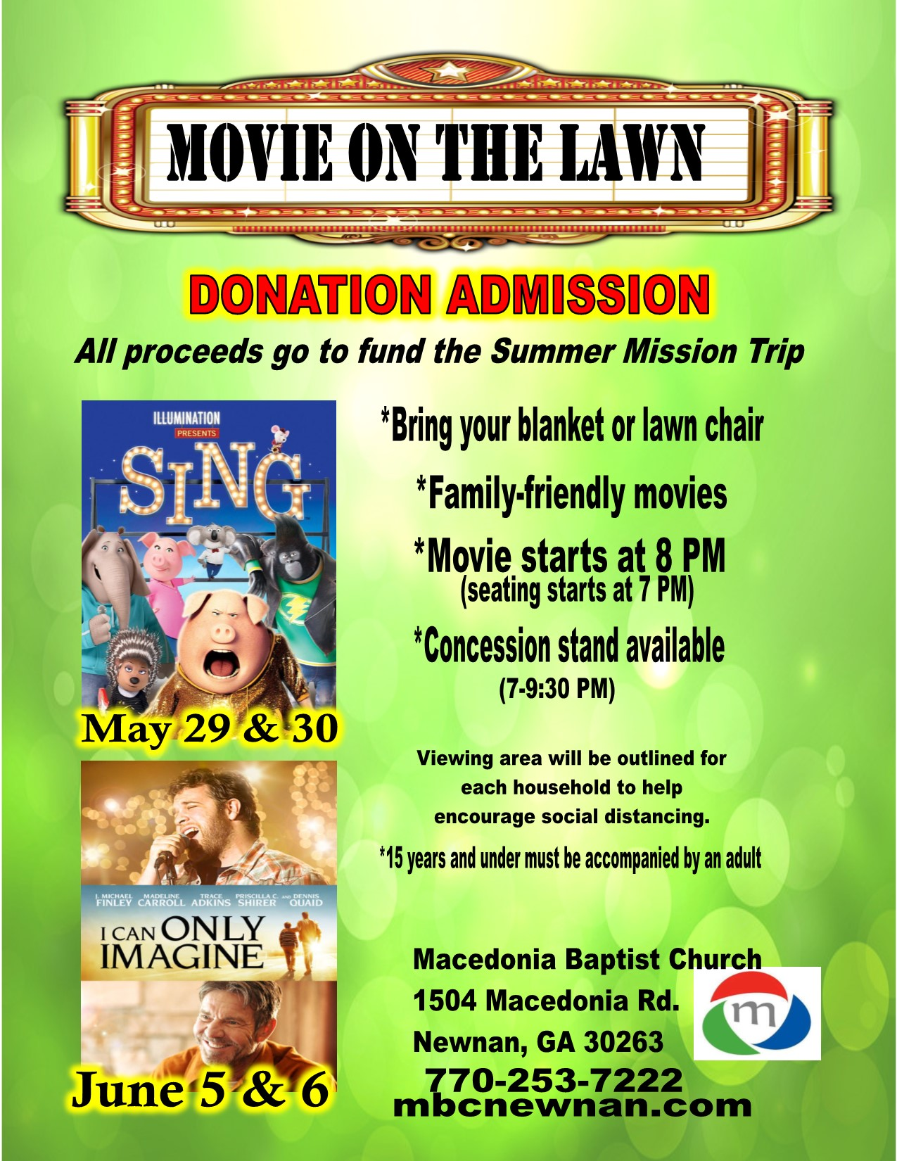 Movie on the Lawn - Fundraiser